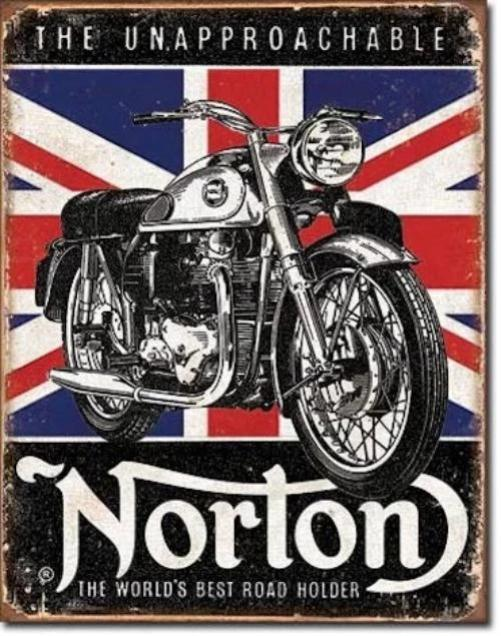 Norton - Best Roadholder Retro Tin Sign | Cookie Jar - Home of the Coolest Gifts, Toys & Collectables