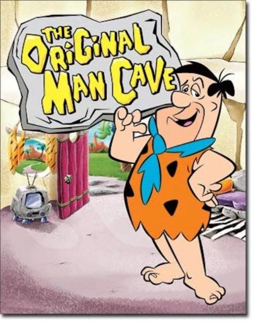Flintstones - Man Cave Retro Tin Sign | Cookie Jar - Home of the Coolest Gifts, Toys & Collectables