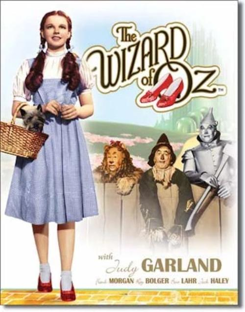 Wizard Of Oz - Dorothy & Toto Retro Tin Sign | Cookie Jar - Home of the Coolest Gifts, Toys & Collectables