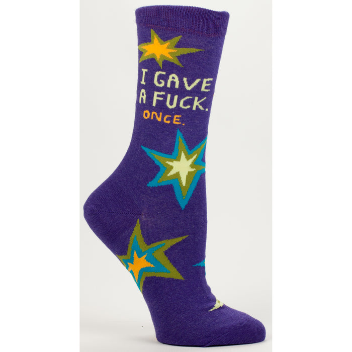 Blue Q - I Gave A F**k, Once Womens Crew Socks | Cookie Jar - Home of the Coolest Gifts, Toys & Collectables