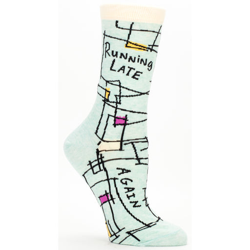 Blue Q - Running Late, Again Womens Crew Socks | Cookie Jar - Home of the Coolest Gifts, Toys & Collectables