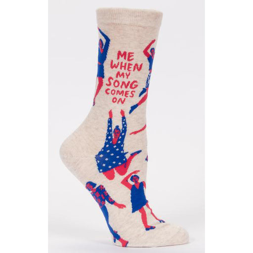 Blue Q - Me When My Song Comes On Womens Crew Socks | Cookie Jar - Home of the Coolest Gifts, Toys & Collectables