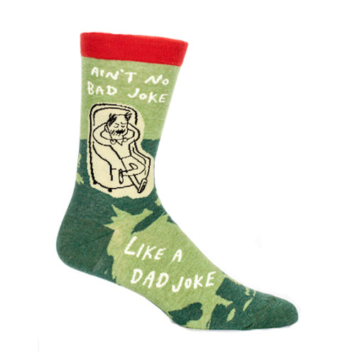 Blue Q - Ain't No Bad Joke Like A Dad Joke Mens Crew Socks | Cookie Jar - Home of the Coolest Gifts, Toys & Collectables