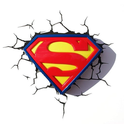 Superman Logo 3D Wall Light | Cookie Jar - Home of the Coolest Gifts, Toys & Collectables