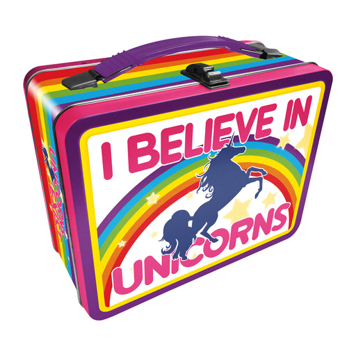 I Believe in Unicorns Tin Carry All Fun Box | Cookie Jar - Home of the Coolest Gifts, Toys & Collectables