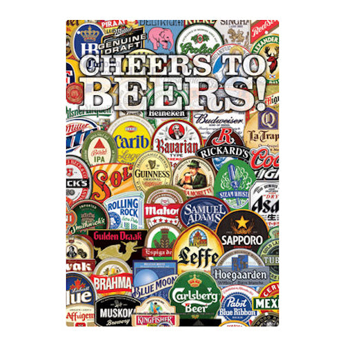 Cheers To Beers Tin Sign | Cookie Jar - Home of the Coolest Gifts, Toys & Collectables