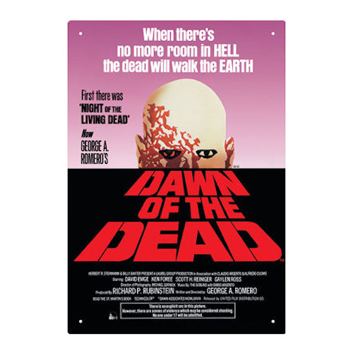 Dawn Of The Dead Tin Sign | Cookie Jar - Home of the Coolest Gifts, Toys & Collectables