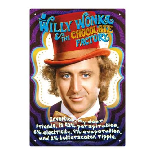 Willy Wonka Recipe Tin Sign