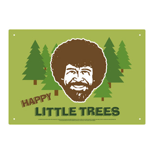 Bob Ross Little Trees Tin Sign | Cookie Jar - Home of the Coolest Gifts, Toys & Collectables