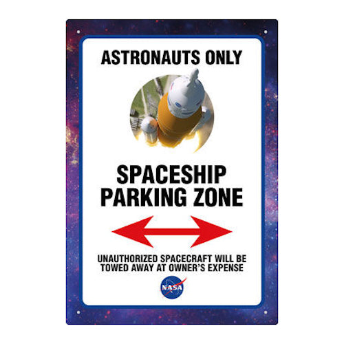 NASA Parking Tin Sign | Cookie Jar - Home of the Coolest Gifts, Toys & Collectables