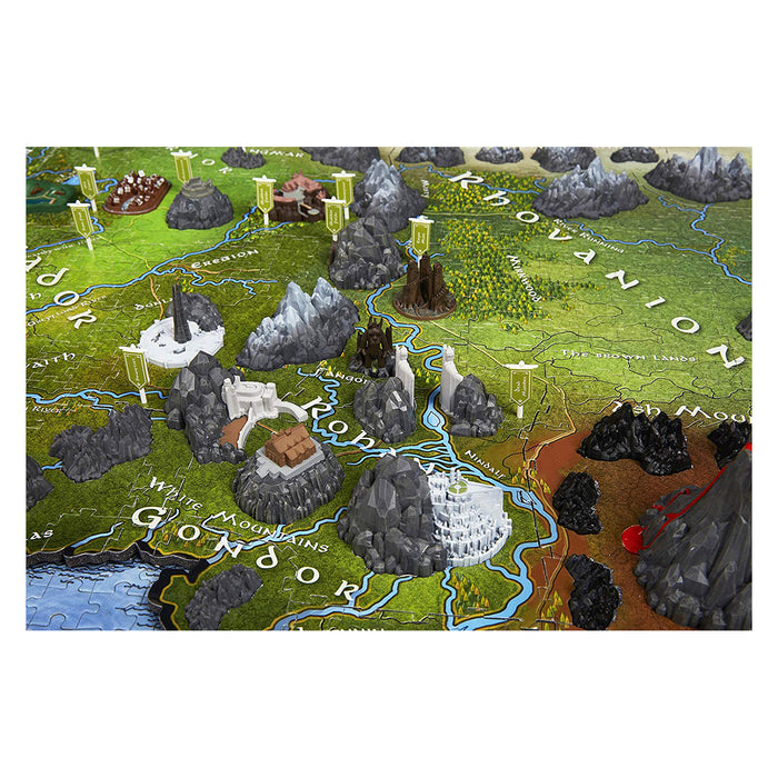 4D Lord Of The Rings Middle Earth 2100pc Puzzle | Cookie Jar - Home of the Coolest Gifts, Toys & Collectables