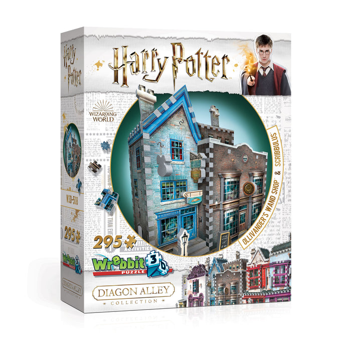 3D Harry Potter - Ollivander's Wand Shop and Scribbulus 295pc 3D Puzzle | Cookie Jar - Home of the Coolest Gifts, Toys & Collectables