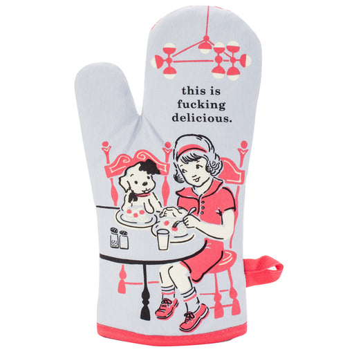 Blue Q - This Is F**king Delicious Oven Mitt | Cookie Jar - Home of the Coolest Gifts, Toys & Collectables