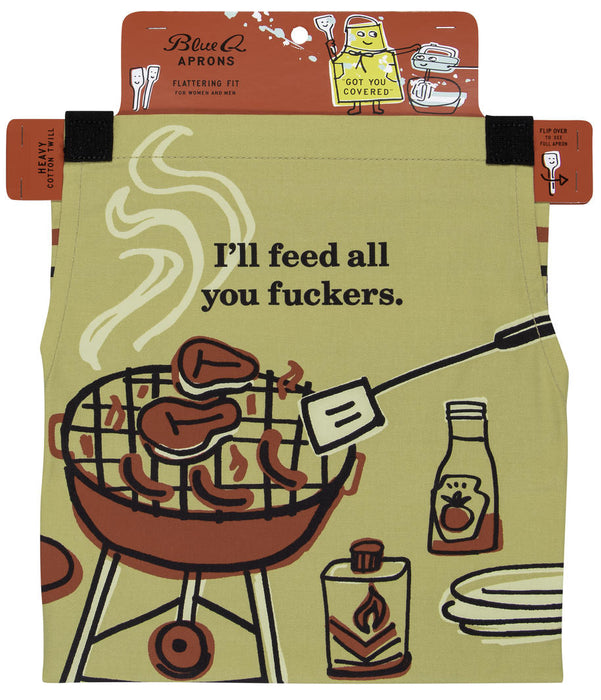 Blue Q - Feed You F*ckers Cooking Apron