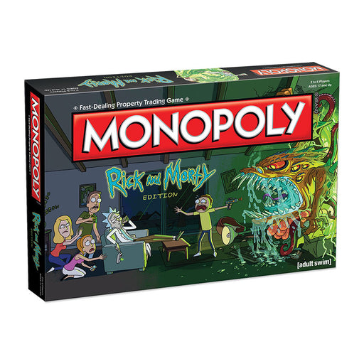 Monopoly - Rick & Morty Edition | Cookie Jar - Home of the Coolest Gifts, Toys & Collectables