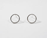Circle Stud Earrings - Small