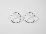Circle Stud Earrings - Large