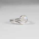 Guide Ring- Oval Rainbow Moonstone