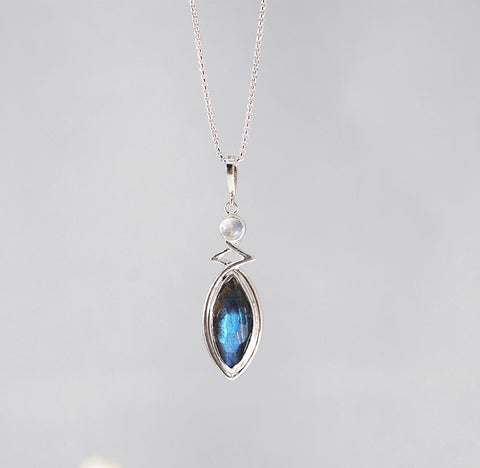 Elegance Necklace- Labradorite and Moonstone
