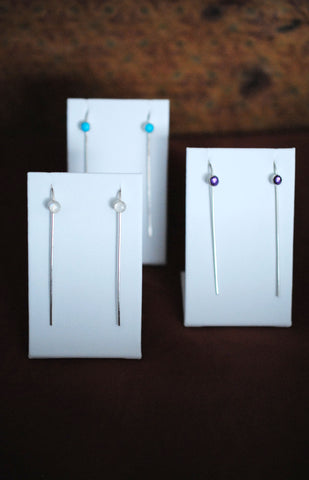 Minimalist Earring - Choice of Gemstone