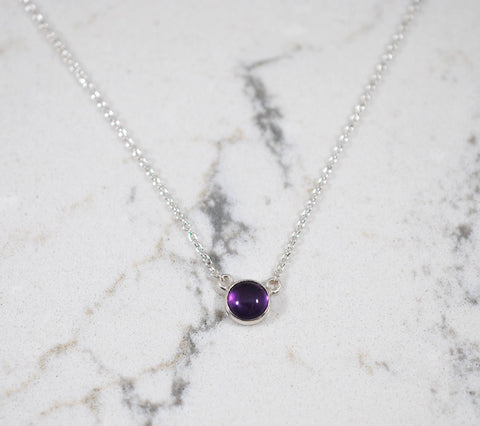 Petite Amethyst Necklace