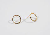 Circle Stud Earring - Small 14k Gold