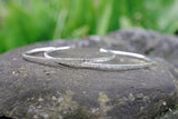 Cuff Bracelet with Hammered Lines