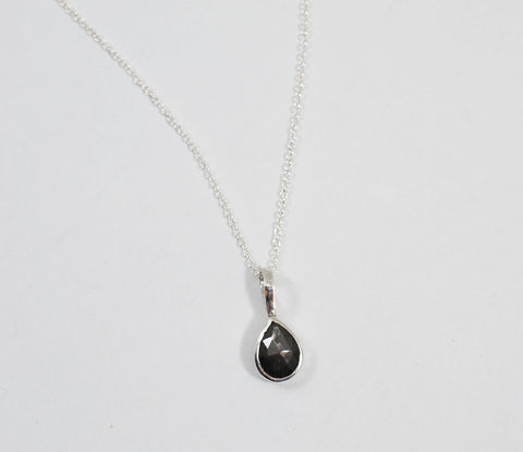 Gray Sapphire Petite Necklace