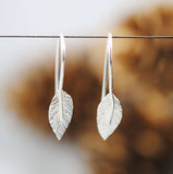 Hammered Leaf Drop Earrings