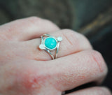 Amazonite and Moonstone Ring