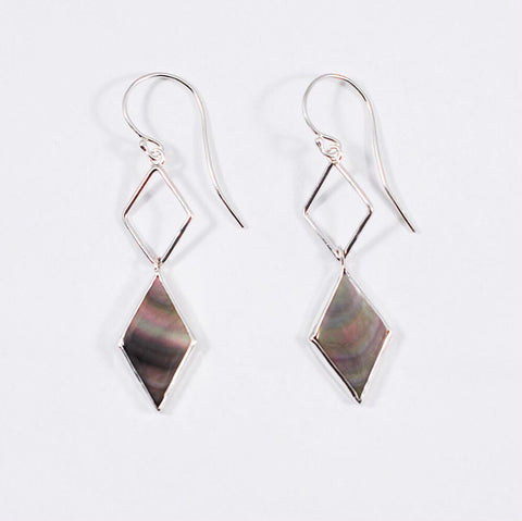 Mother of Pearl Diamond Shape Earrings