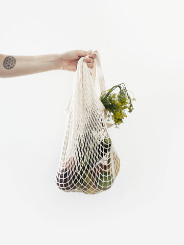 Use a glamorous net bag to do your shopping