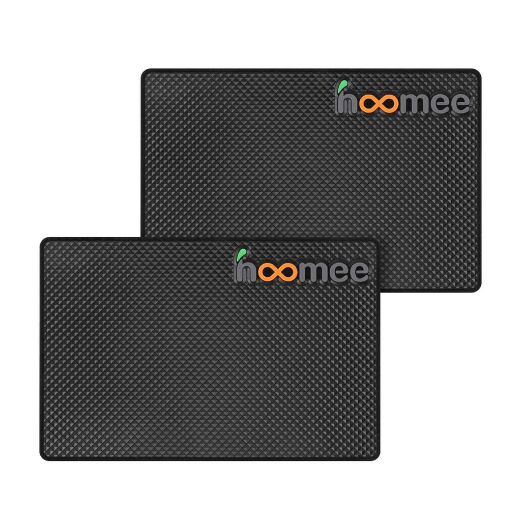 HOOMEE Non-slip Silicone Mat 12x18cm – Set of 2 pads – Multipurpose Rectangular Antiskid Pad for Car Dashboard, Countertop, Desk – Non Sticky Mat