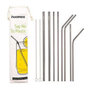 Reusable Stainless Steel Straws (Set of 8)