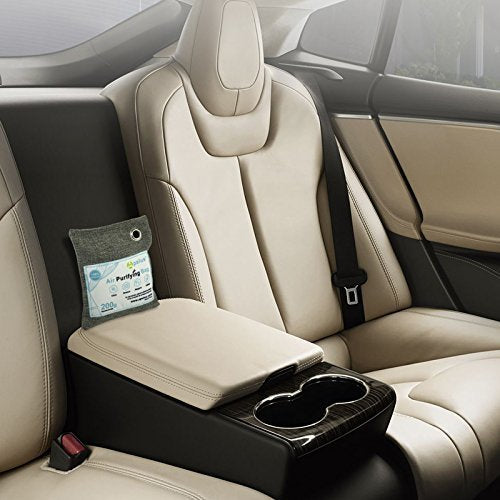 Apalus Air Purifying Bag For Car | Reusable Bamboo Activated Charcoal Air Freshener | Natural & Chemical Free