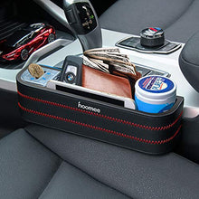 HOOMEE | Premium PU Leather Car Seat Side Pocket Organizer with Detachable Coin Collector