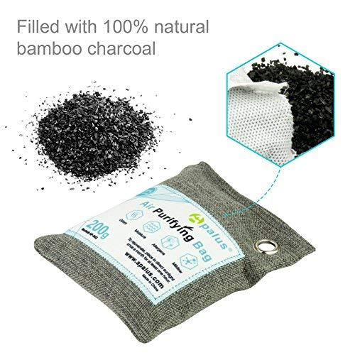 Apalus Air Purifying Bag For Closet And Kitchen Odor | Reusable Bamboo Activated Charcoal Air Freshener | Natural & Chemical Free