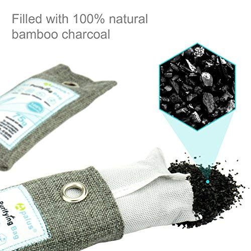 Apalus Mini Air Purifier Bags | Bamboo Activated Charcoal Air Freshener | Odor Eliminator For Shoes | Natural & Chemical Free