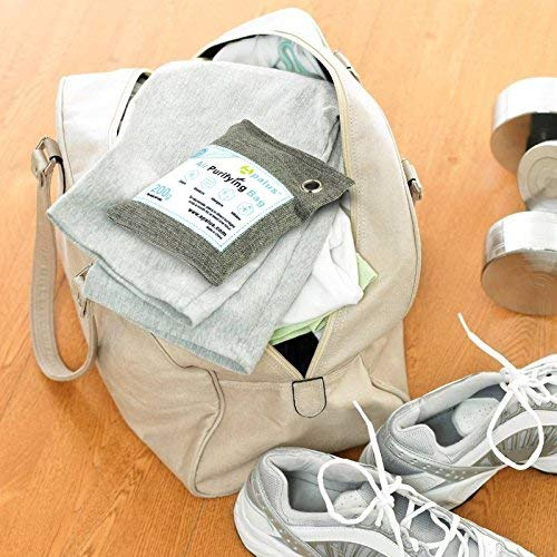 Apalus Air Purifying Bag For Closet | Car | Shoe And Kitchen Odor | Reusable Bamboo Activated Charcoal Air Freshener | Natural & Chemical Free | Family Set