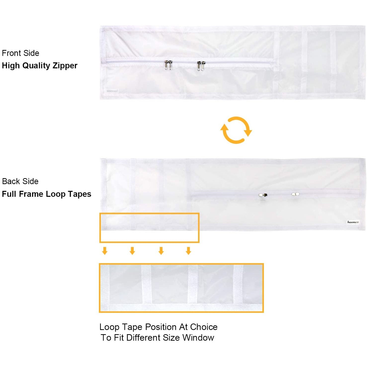 Adjustable Hung Window Seal for Portable Air Conditioner and Tumble Dryer –Min Size 25x62 cm Max Size25x92cm - Works with Every Mobile Air-Conditioning Unit, Easy to Install, Waterproof