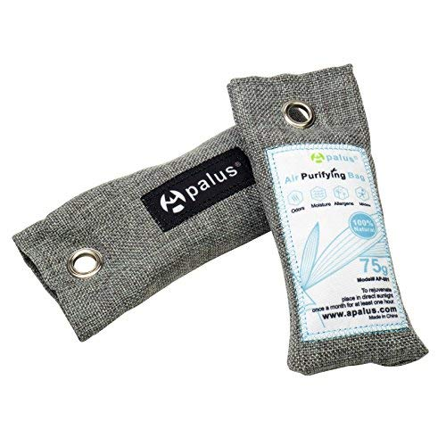 Apalus Mini Air Purifier Bags - Bamboo Activated Charcoal Air Freshener