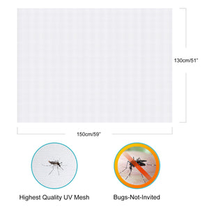 Apalus Universal Window Transparent Fly Screen | Washable Mesh | Adjustable Insect Net, DIY Window Size - Mosquito & Bug Protection