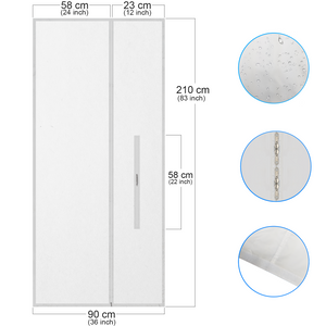 HOOMEE | AirLock Door Seal For Portable Air Conditioner and Tumble Dryer | 90x210cm | 35,5x82,5 inches