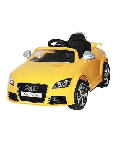 Audi TT RS Plus Yellow Color Battery Operated Ride on Car