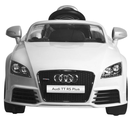 Audi TT RS Plus White Color Battery Operated Ride on Car