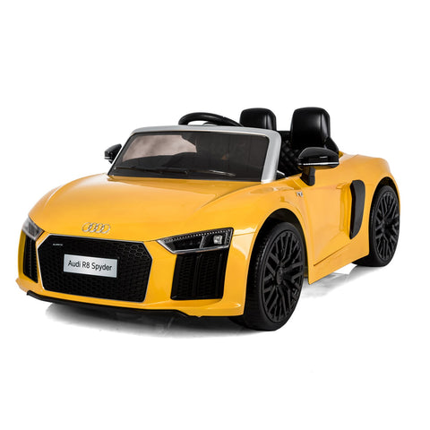 Audi R8 Spyder Yellow colour Battery Operated Ride on