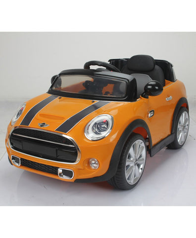 BMW Mini Cooper 195yellow colour Battery Operated Ride on car