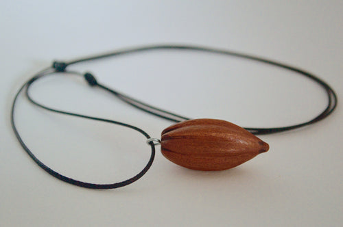 Hand Crafted Cacao Pod Necklace