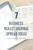 7 Business Bullet Journal Spread Ideas