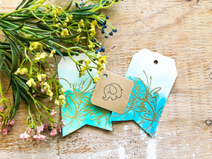 Butterflies | Pack of 4 Handmade Gift Tags | Thoughtfully Handmade